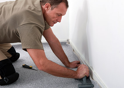 Professional floor covering installation services.